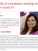 The life of a Jordanian working mother under Covid-19