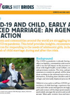 COVID-19 and Child, Early and Forced Marriage: An Agenda for Action