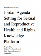 Jordan Agenda Setting for Sexual and Reproductive Health and Rights Knowledge Platform