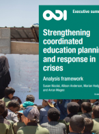 Strengthening coordinated education planning and response in crises: analysis framework