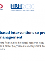 Evidence-based interventions to promote women in health management