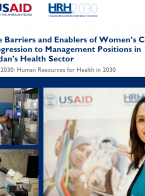 The Barriers and Enablers of Women's Career Progression to Management Positions in Jordan's Health Sector