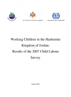 Working Children in the Hashemite Kingdom of Jordan: Results of the 2007 Child Labor Survey