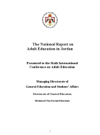The National Report on Adult Education in Jordan