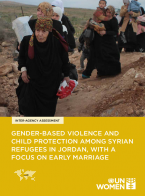 Gender Based Violence and Child Protection among Syrian Refugees in Jordan, With the Focus on Early Marriage
