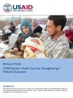 Evaluation USAID/Jordan: Health Services Strengthening II Midterm Evaluation