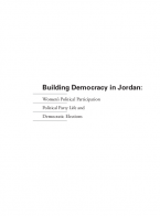 Building Democracy in Jordan: Women's Political Participation, Political Party Life and Democratic Elections