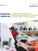 Training Manual - Gender Mainstreaming in the Legislative Studies & Research Center at the Jordanian House of Representatives